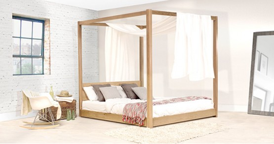 Low Four Poster Canopy Bed | Get Laid Beds