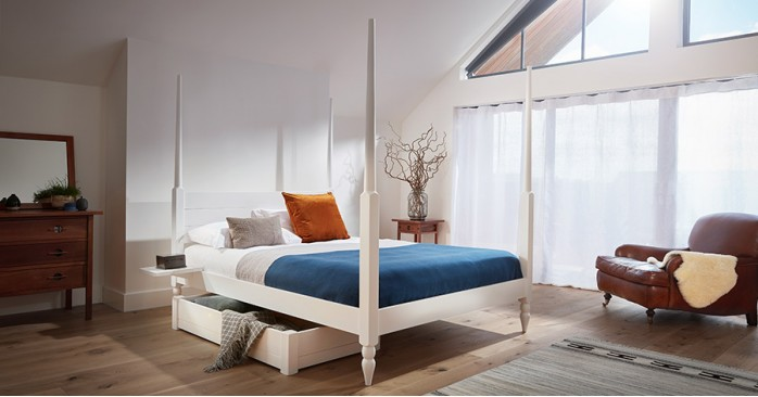 Moroccan Four Poster Canopy Bed