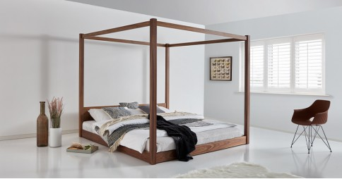 Low Four Poster Canopy Bed