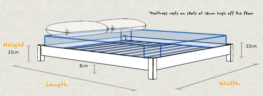 Low Platform Wooden Bed Frame Dimensions