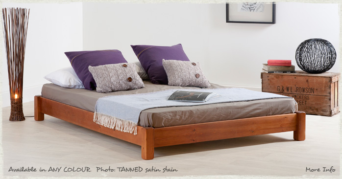 Low Platform Bed - Wooden Bed Frame