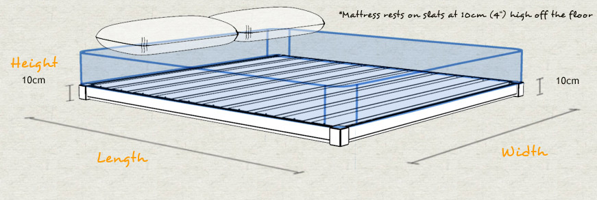 Low Loft Bed Dimension and Sizes