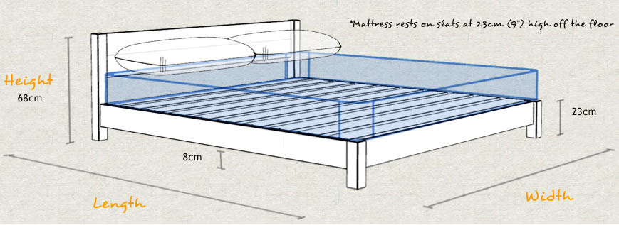 Low oriental bed space saving get laid beds for Space saving bed frame