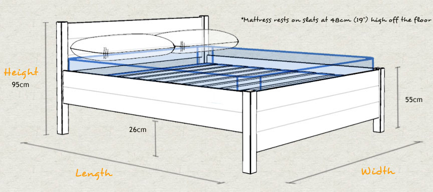 The Kings Bed Wooden Frame Sizes and Dimensions