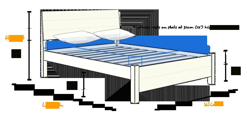 king size chelsea bed wooden bed frame by get laid beds ebay. Black Bedroom Furniture Sets. Home Design Ideas
