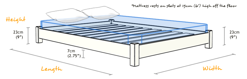 ... about Any Size - Low Platform Wooden Bed Frame - by Get Laid Beds