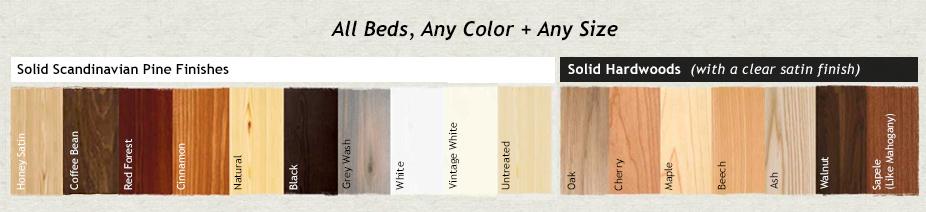 Wooden Beds Colour Finishes Swatch By Get Laid Beds